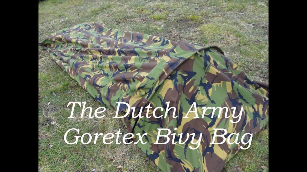 Gore Tex Type Bivvi Bag British Army Woodland Camouflage Bivi Bivvy Stealth Camp