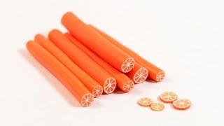 """Апельсиновая """"колбаса"""" из полимерной глины"""