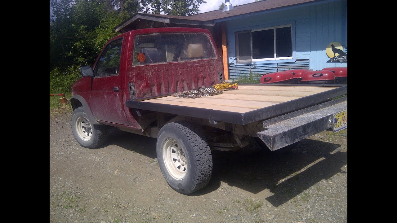 Nissan D21 Flatbed Frame vid 1 of 3 - YouTube