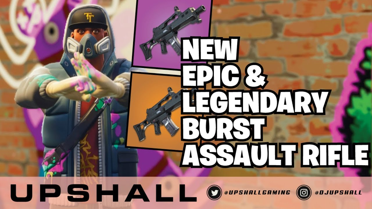*NEW WEAPONS* Legendary Burst Assault Rifle Gameplay (PS4 Pro) Fortnite Livestream