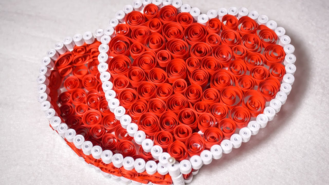 quilling gift box ideas diy heart for valentine