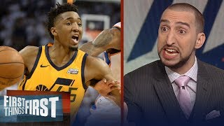 Nick Wright reacts to Donovan Mitchell's stellar game in Jazz' win over Thunder | FIRST THINGS FIRST