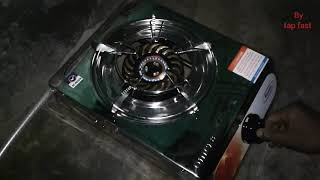 How to setup Gas Stove with Gas Cylinder & make fire