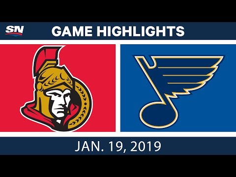 NHL Highlights | Senators vs. Blues - Jan. 19, 2019
