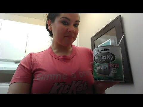 How to Cheaply Refinish Counter Tops / Rust-Oleum Countertop Coating Review