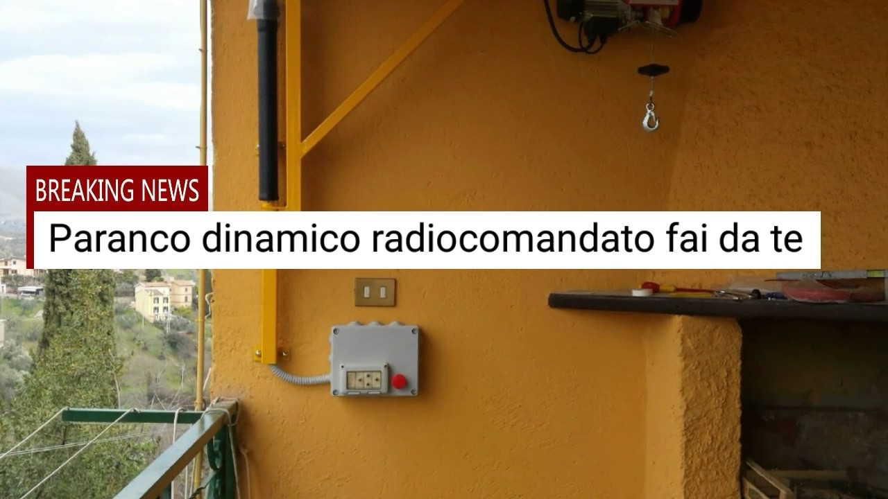 Paranco radiocomandato youtube for Montacarichi da balcone per legna