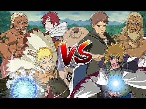 Trận Chiến Giữa Các Hokage, Raikage Và Kazekage - Naruto Song Đấu