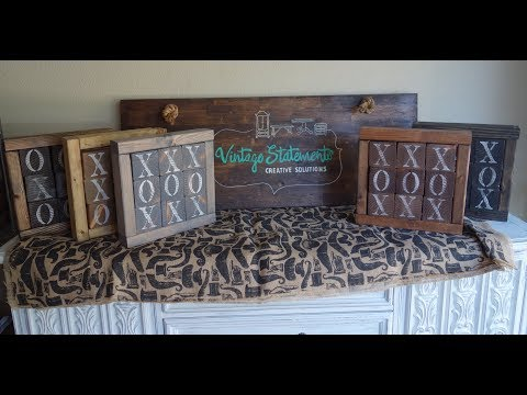 Do it yourself Decor: Vintage: Tic Tac Toe Boards