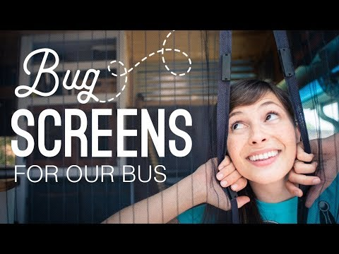 Easy DIY Window Screens For Our Bus House | Homemade Skoolie Velcro Bug Screens