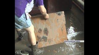 В Новоселовском районе после ливня оказался затоплен поселок Интикуль