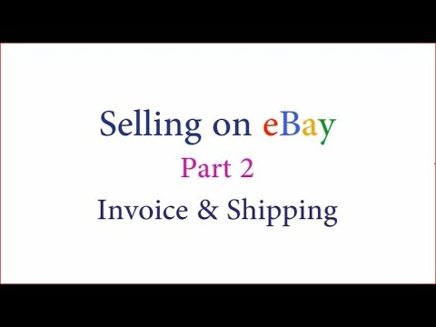 How to send invoice to someone on ebay