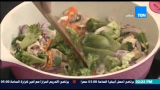 مطبخ 10/10 - الشيف أيمن عفيفي - الشيف نهلة شوقي - طريقة عمل مكرونة كانتون بالخضار