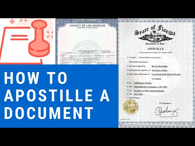 How to Apostille a Document from the United States