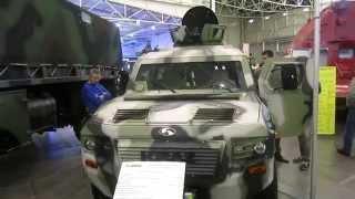 Бронеавтомобиль «КрАЗ Кугуар» (Cougar) - видео обзор(Бронированный автомобиль «КрАЗ Кугуар» (Cougar-APC), представленный на ХІ Международной специализированной..., 2014-09-26T19:13:35.000Z)