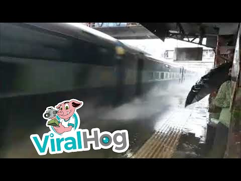Train Station Water Ride || ViralHog