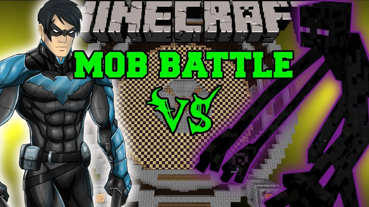 Mutant Enderman Vs Nightwing Minecraft Mod Battle Mob