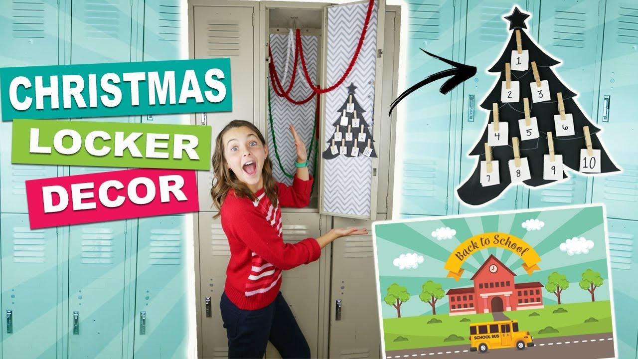 Back To School Diy Christmas Locker Decor Ideas And Christmas Countdown