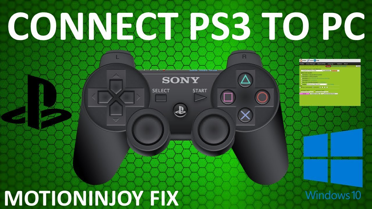 How to Connect PS3 Controller to PC / Motioninjoy FIX (2019)