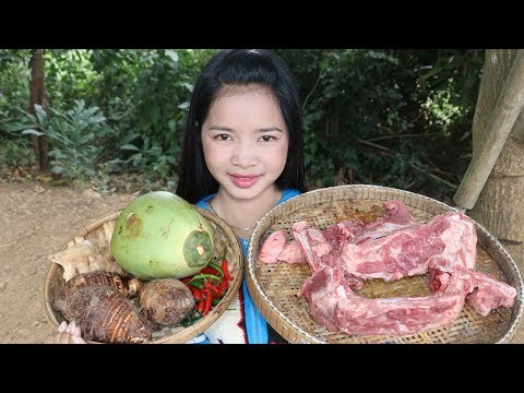 Awesome Cooking Steamed Taro Coconut With Pork Delicious Cook Recipe – Village Food Factory
