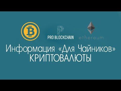 """PRO BLOCKCHAIN - информация """"Для Чайников"""" - что такое криптовалюты, альткоины, блокчейн?"""