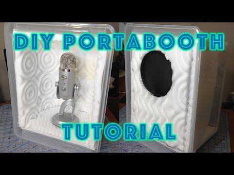 DIY $20 Portable Audio Recording Booth Tutorial