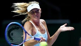 Maria Sharapova vs Flavia Pennetta | 2015 WTA Finals Highlights