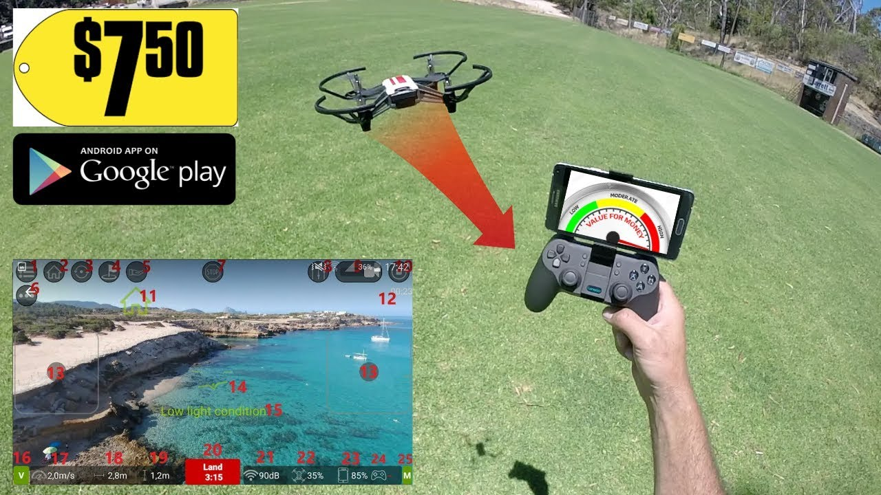 DJI TELLO Ryze FPV APP - Return to home + MORE 2019