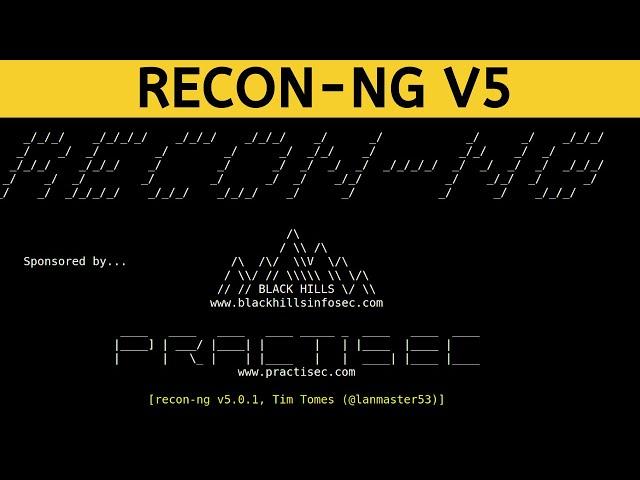 Recon-ng V5 - Web Interface
