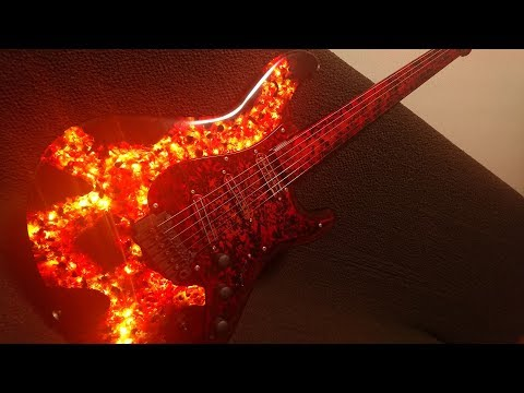 I Built magma guitar with epoxy resin and glass.【chapter2】