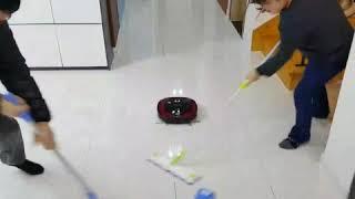 영미야 LG 로봇 청소기 짱이다