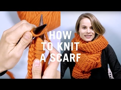 How To Knit Scarf