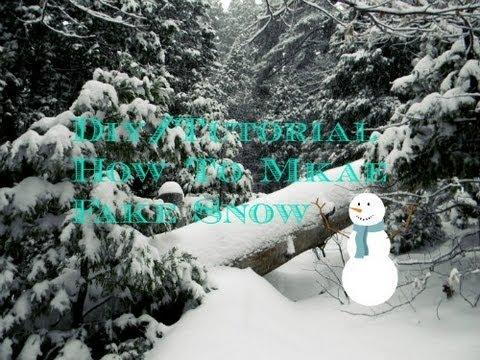 Diy Tutorial How To Make Free Cheap Fake Snow