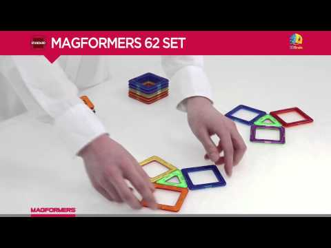 MAGFORMERS STANDARD RAINBOW 62PC SET