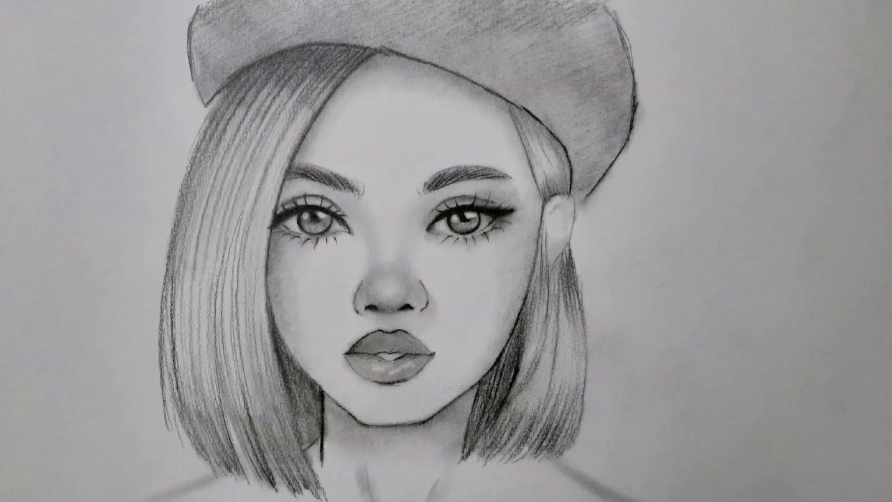 Kolay ve güzel kız yüzü çizimi nasıl çizilir