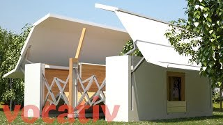Video This Folding Home Assembles Itself In Eight Minutes download MP3, 3GP, MP4, WEBM, AVI, FLV Juli 2018