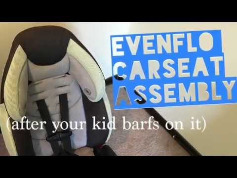 Re-Assemble your Evenflo Car Seat After Cleaning It - Tutorial