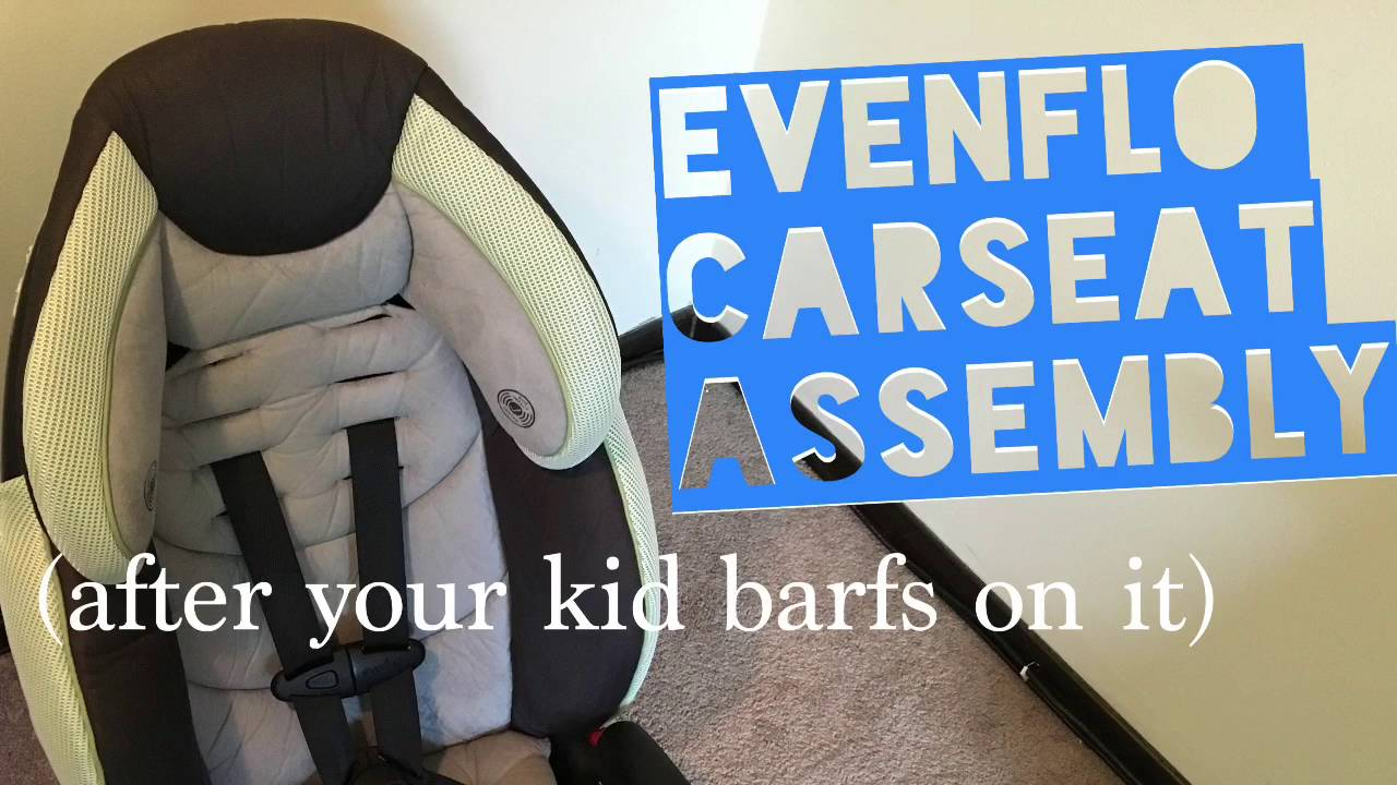 Re Assemble Your Evenflo Car Seat After Cleaning It
