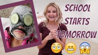 NIGHT BEFORE FIRST DAY OF SCHOOL PREP | THE LEROYS