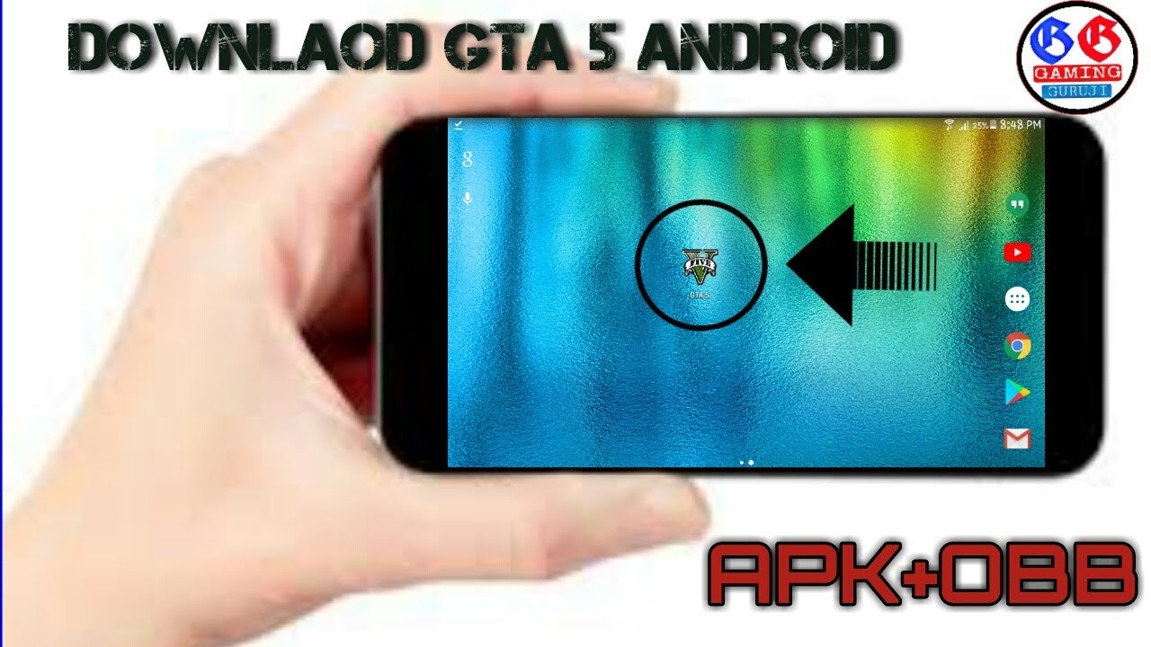 ||APK+OBB||DOWNLOAD REAL GTA 5 ON ANDROID ||WITHOUT VERIFICATION CODE || BY  GAMING GURUJI