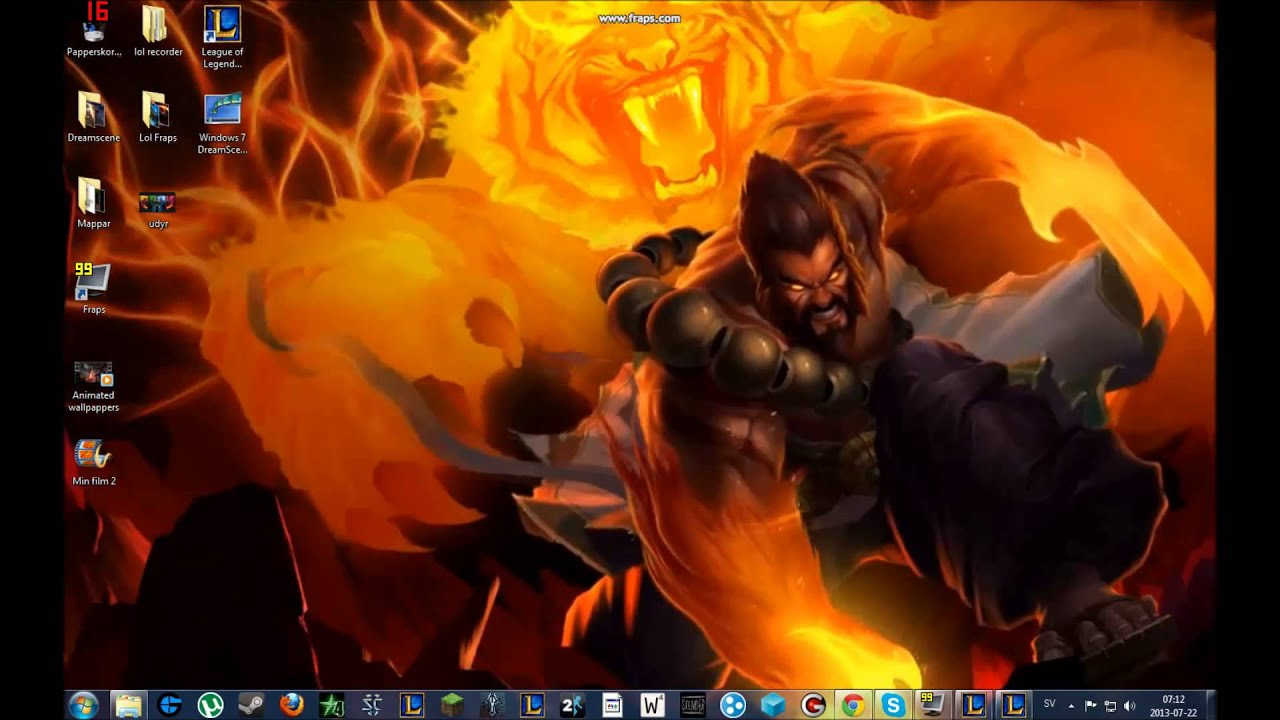 3d Animated Wallpaper For Windows 7 Ultimate Free Download Spirit Guard Udyr Animated Desktop Wallpaper Youtube