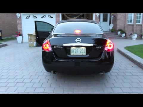 2008 Nissan Altima Tinted Stock Tail Lights Vs Black Jdm