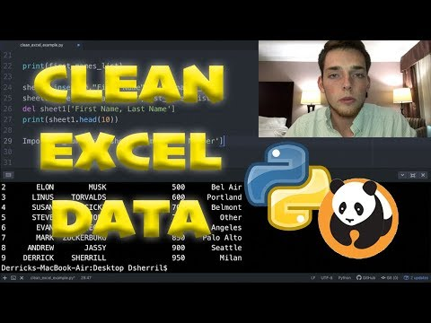 Clean Excel Data with Python and Pandas - 5 Minute Python Scripts - Full Code Along Walkthrough