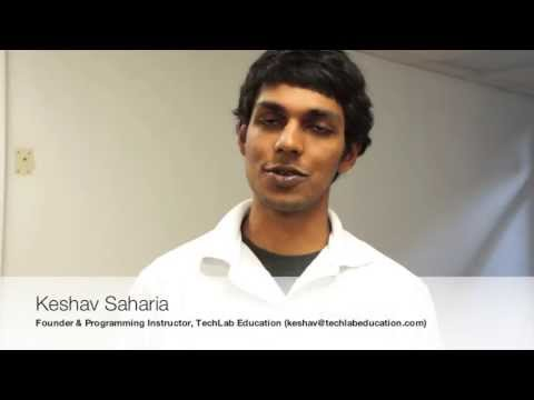 TechLab Education (Saratoga, CA): Keshav Saharia, Founder & Programming Instructor