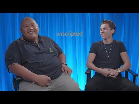 'SpiderMan: Homecoming'  Unscripted  Tom Holland, Jacob Batalon