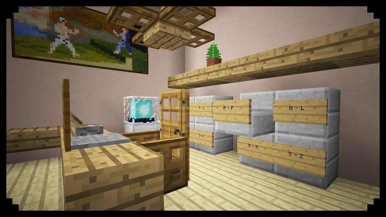 Minecraft: How to make a Filing Cabinet - YouTube