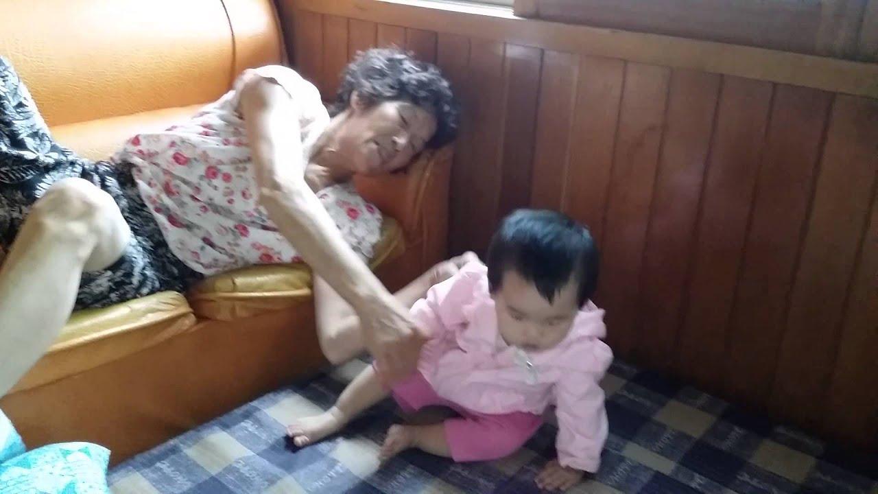 할머니 와 손자