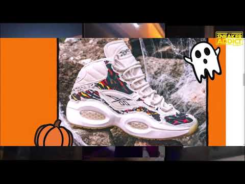 Details about  /Reebok Question Mid Allen Iverson Halloween Ankle Reaper Boktober Men New FZ1357
