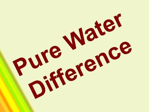 Three Types of Pure Water Reverse Osmosis Water Mineral Water Difference