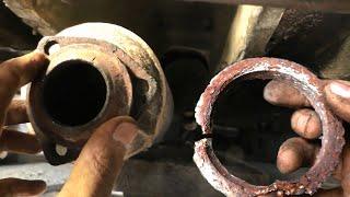 Выхлопные газы в салоне. Замена приемной выхлопной трубы. Запах выхлопа Пассат Б3