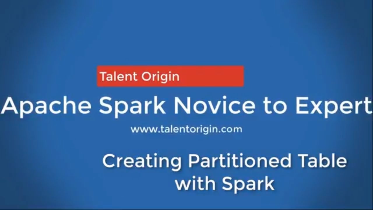 Creating Partitioned Table with Spark